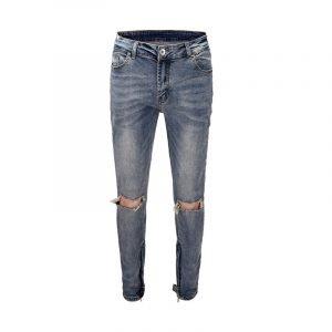 Vintage Knees Ripped Jeans For Men