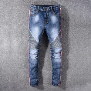 Men's Blue Stacked Skinny Jeans