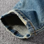 Cool Vintage Patched Ripped Jeans For Men