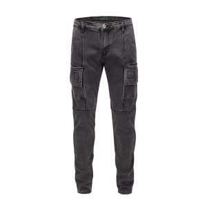 Mens Black Straight Leg Jeans With Side Pockets
