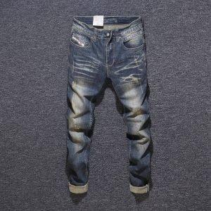 Vintage Black Mens Straight Leg Jeans