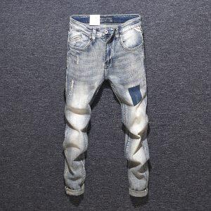 Men Black Extremely Light Washed Skinny Jeans