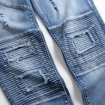 Men's Stacked Patchwork Distressed Ripped Jeans