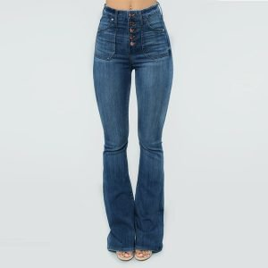2021 Women Vintage High Waisted Flare Jeans