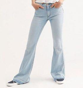 90's Women Vintage Blue Flare Jeans