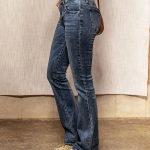 Blue Light Washed Flare Jeans