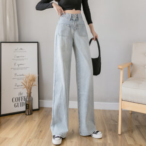 Light Washed High Waisted Baggy Jeans